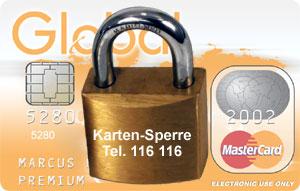 Sperre Global Mastercard
